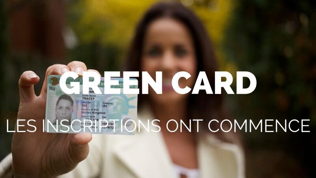 les inscriptions pour la green card ont commencé