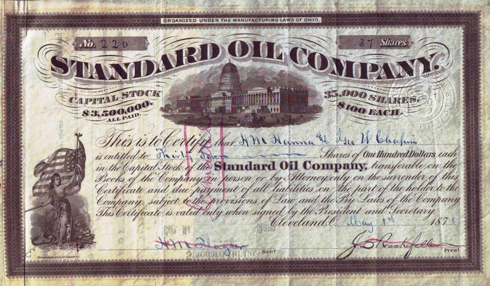 Standard oil company à Cleveland