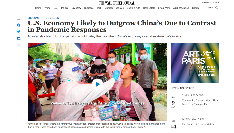 croissance aux etats-unis en 2021 surpasse la chine